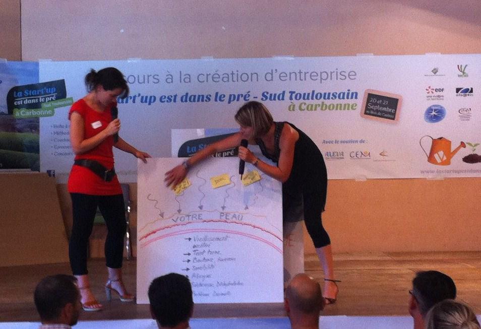 Concours de la start-up est dans le pré, présentation du concept Les Happycuriennes