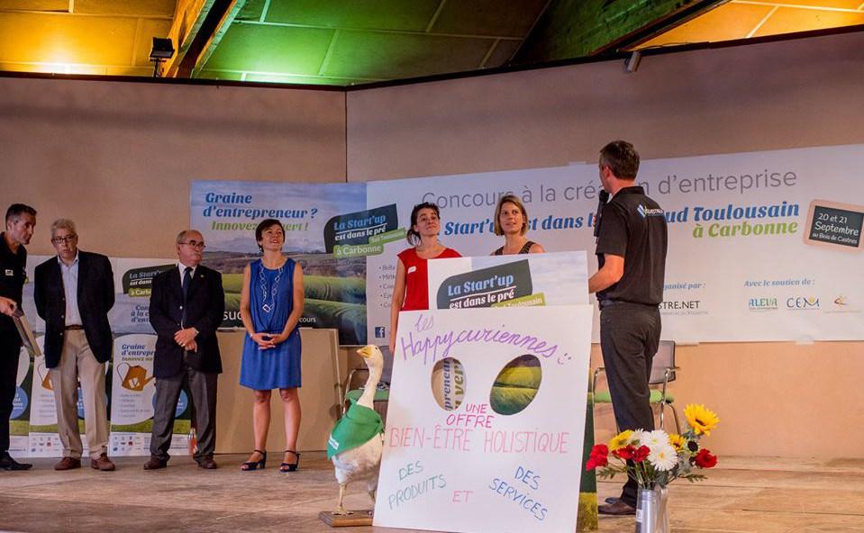 Concours de la start-up est dans le pré, annonce des gagnantes, Les Happycuriennes