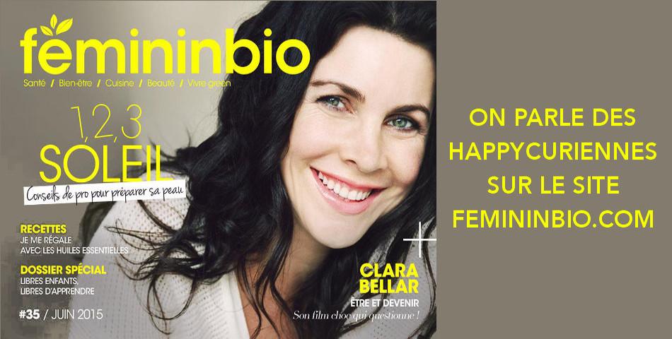Les Happycuriennes, marque de cosmetique bio et vegan, invitee chez FemininBio