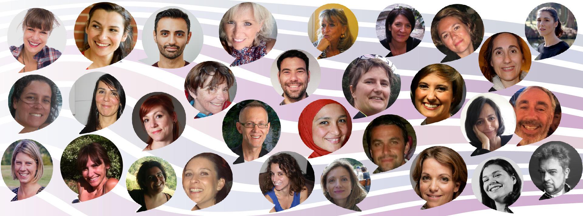 Mur de la gratitude des Happycuriennes, co-creatrices de notre ligne de soins bio et vegan