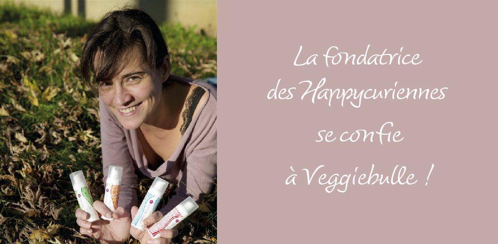 La cosmetique bio et vegan des Happycuriennes invitee sur le blog Veggibulle, interview de Carole Marchais