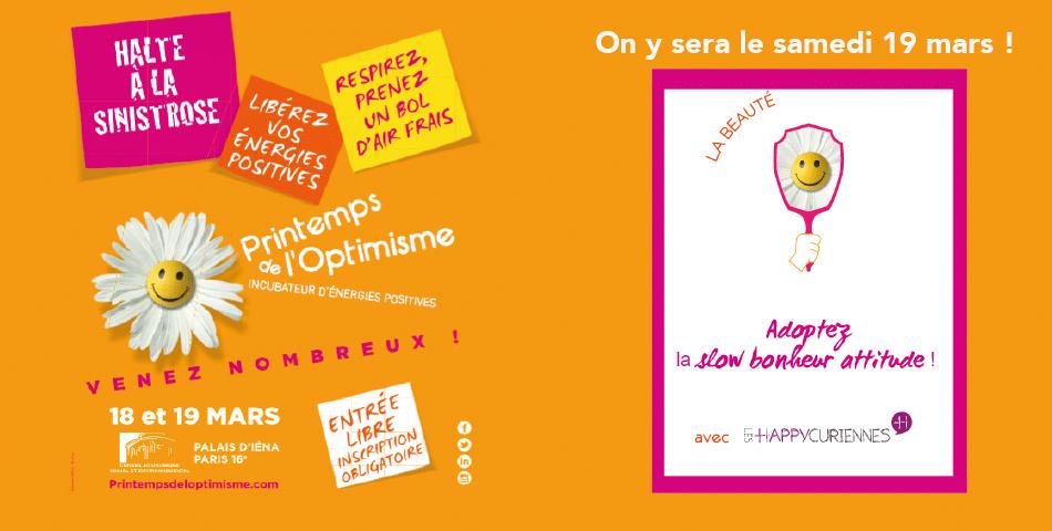 Les Happycuriennes, marque de cosmetique bio et vegan, participe au printemps de l optimisme a paris