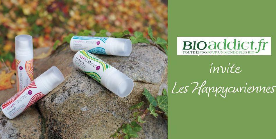La cosmetique bio et vegan des Happycuriennes invitee sur Bioaddict