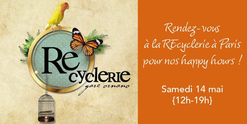 Les Happycuriennes, marque de cosmetique bio et vegan, made in France, sera presente a la recyclerie