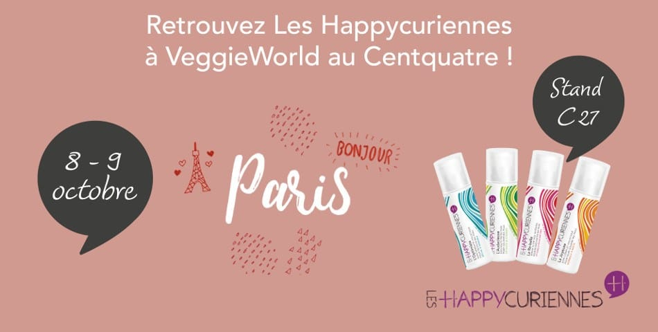 Les happycuriennes au salon veggieworld en octobre 2016 for Salon vegan paris