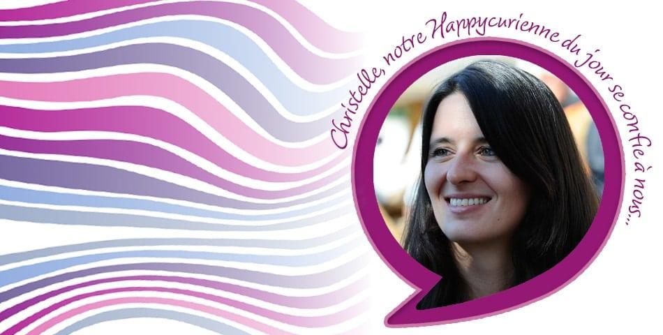 Christelle, fidèle happycurienne, adepte de L'Optmiste et du bonheur