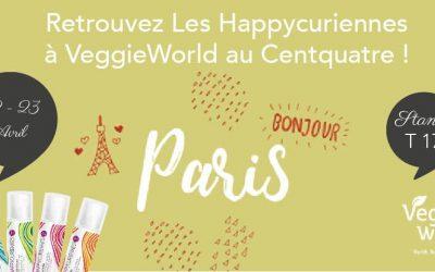 Les Happycuriennes au salon vegan de Paris, VeggieWorld, 22-23 avril 2017