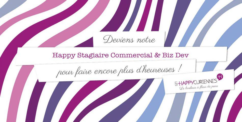 Stage commercial biz dev dans une start up cosmétique bio et vegan, Les Happycuriennes
