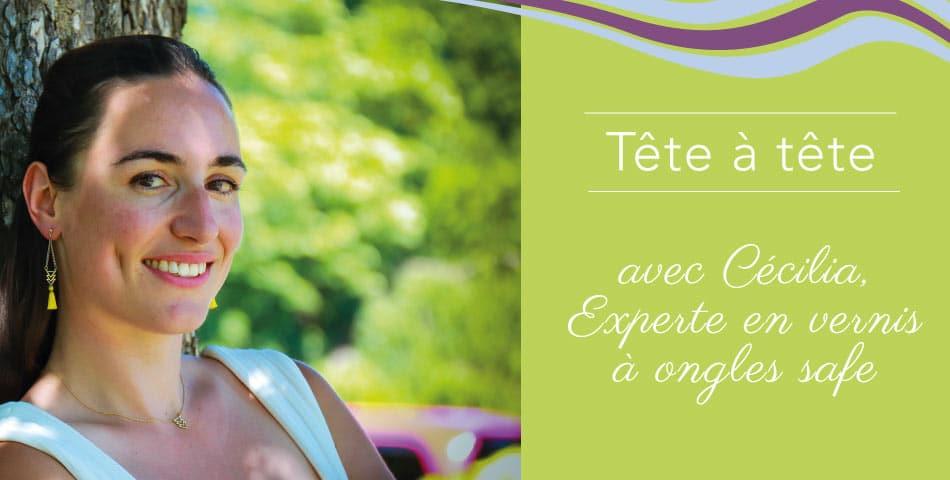 Rencontrez Cécilia, adepte de l'happycurisme, experte en vernis à ongles safe