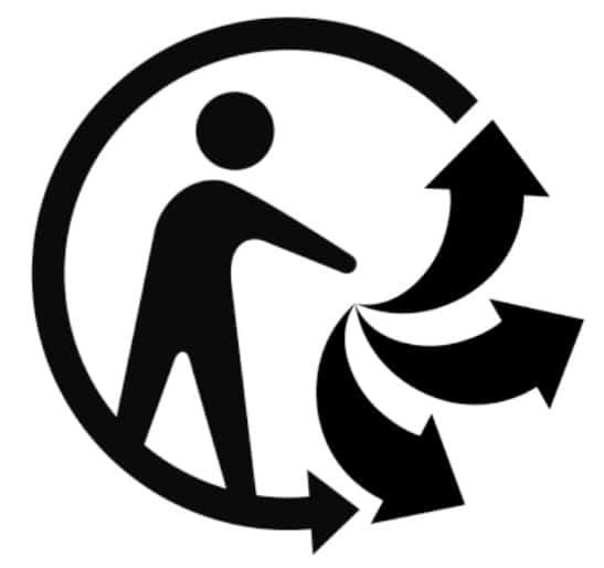 logo triman recyclage emballages cosmétiques