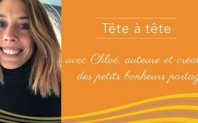 Chloé, auteure et créatrice des petits bonheurs partagés