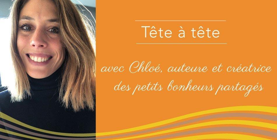 Portrait de Chloé, auteure des petits bonheurs partagés