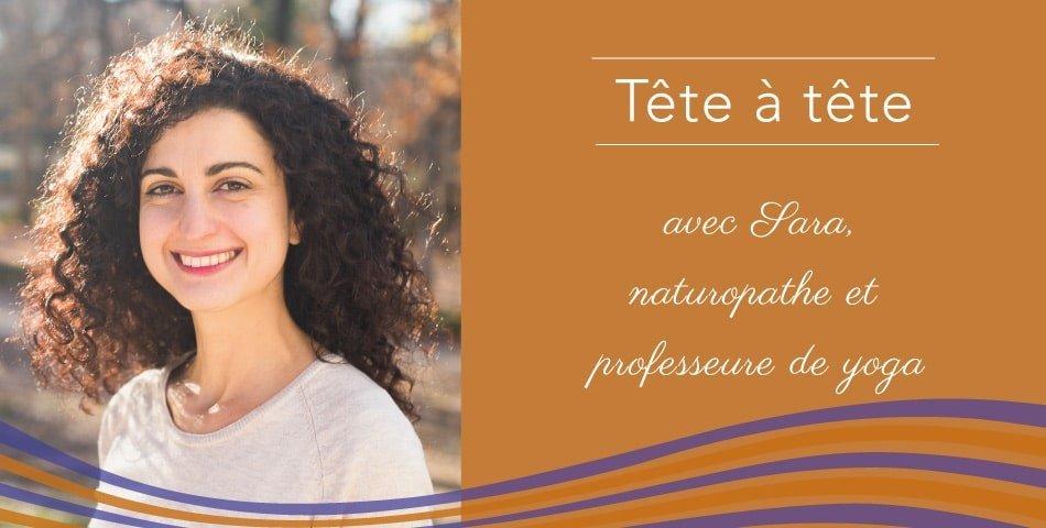 Sara, naturopathe et professeure de yoga